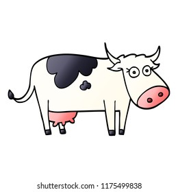 cartoon doodle farm cow
