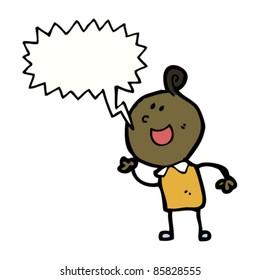 cartoon doodle man shouting
