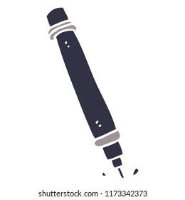 cartoon doodle marker pen