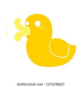 cartoon doodle rubber duck