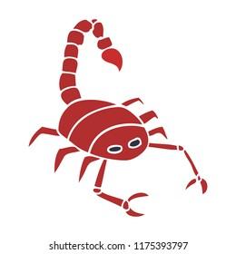 cartoon doodle of a scorpion