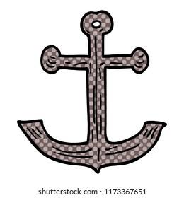 cartoon doodle ships anchor