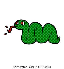 cartoon doodle snake