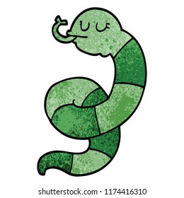 cartoon doodle snake coiled