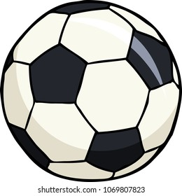Cartoon doodle soccer ball on a white background vector illustration