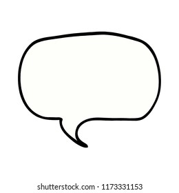 cartoon doodle speech bubble