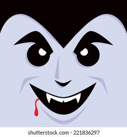 Cartoon Dracula Face