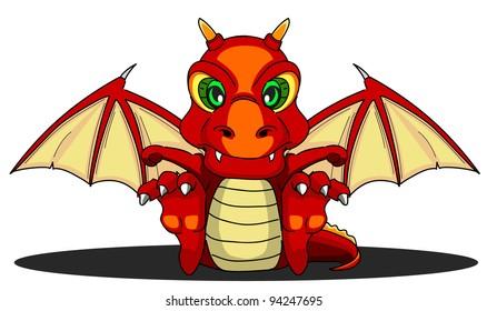 cartoon dragon eighteen