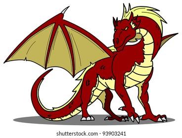 cartoon dragon fourteen