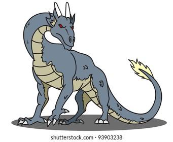 cartoon dragon thirteen