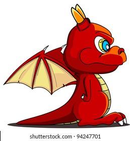 cartoon dragon twenty