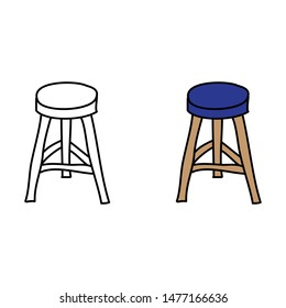 cartoon drawing of a bar stool