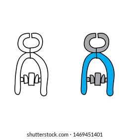 cartoon drawing of blue pliers