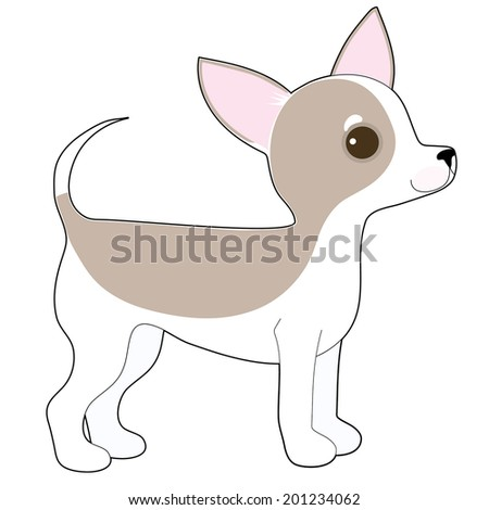 cartoon drawing cute little chihuahua stock vector royalty free
