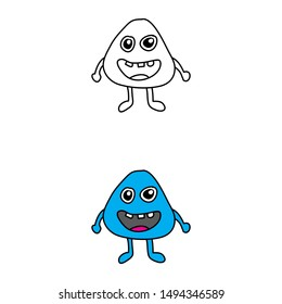 cartoon drawing of a monster