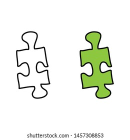 cartoon drawing of a puzzle piece