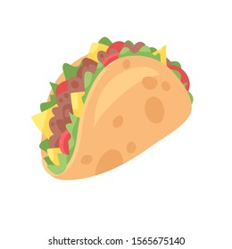 Cartoon drawing set of fast food. Hand drawn meal.Actual Vector illustration american cuisine. Creative ink art work mexican tacos
