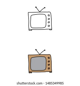 cartoon drawing of a television