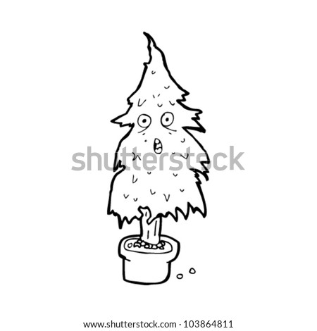 Cartoon Dying Christmas Tree Stock Vector Royalty Free 103864811
