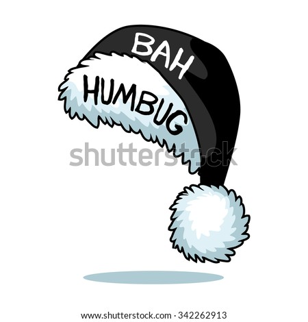 eccbd0c4fe34c Royalty-free stock vector images ID  342262913. Cartoon Ebenezer Scrooge  Bah Humbug Santa hat isolated on white EPS 10 vector - Vector