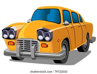 Cartoon elegant car