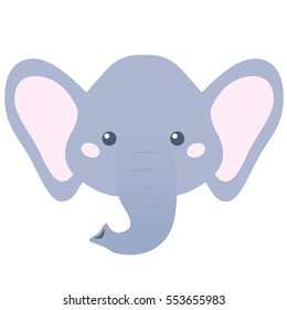Cartoon elephant head