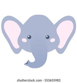 cartoon elephant head images stock photos vectors shutterstock rh shutterstock com cartoon elephant head pictures Cartoon Elephant Clip Art