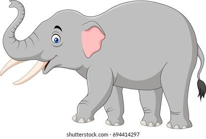Cartoon elephant isolated on white background