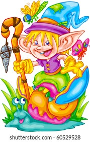 Cartoon Elf