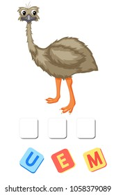 Cartoon emu crossword. Put the letters in the correct order