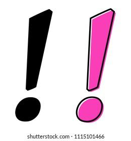Pink Exclamation Mark Stock Vectors Images Vector Art Shutterstock