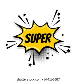 Cartoon exclusive font label tag expression. Comic text pop art sound effects. Sounds vector illustration. Lettering vintage super sale boom. Comics book balloon. Bubble icon comic speech phrase.