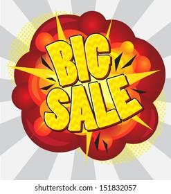 Cartoon explosion pop-art style �¢?? big sale.