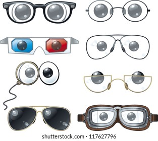 Cartoon eye glasses collection