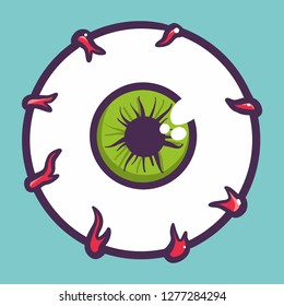 Cartoon eyeball icon. Illustration of cartoon eyeball vector icon for web design