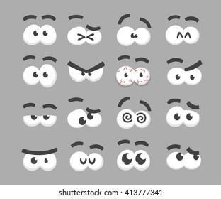 Cartoon eyes collection.