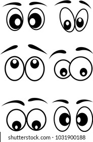cartoon eyes icons set vector design. Beautiful illustration,
