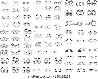 cartoon eyes in vector