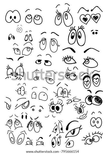 Cartoon Eyes Vector Different Type Eyes Stock Vector Royalty Free