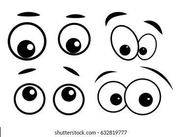 cartoon eyes vector symbol icon design. Beautiful illustration isolated on white background