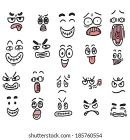 cartoon face color
