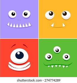 Cartoon faces with emotions v.6
