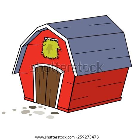 cartoon farm barn stock vector royalty free 259275473 shutterstock