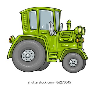 Cartoon Farm Tractor