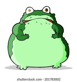 cartoon fat frog