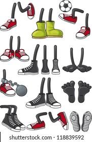 Cartoon feet collection