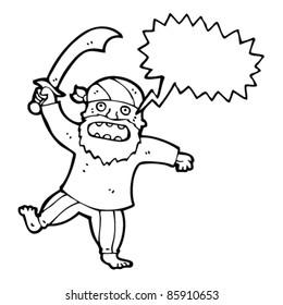 cartoon fierce pirate