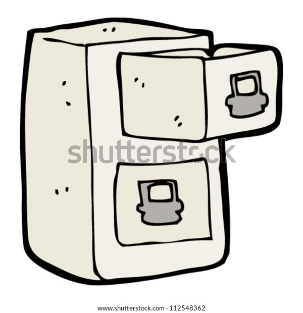 Cartoon Filing Cabinet Stock Vector Royalty Free 112548362