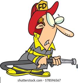 cartoon fire fighter