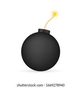 Cartoon fire flame. Flat vector icon. 3d vector. Damage concept. Flat bomb for concept design. Vector stock illustration.